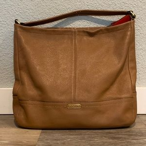 Coach Pebble Leather Park Hobo